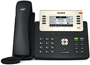 $109 » Yealink SIP-T27G IP Phone, 6 Lines. 3.66-Inch Graphical Display. USB 2.0, Dual-Port Gigabit Ethernet, 802.3af PoE, Power A...