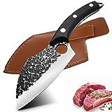 Coltello per disossare / Mannaia per carne / Disosso forgiato a mano / Coltello per filettare in acciaio ad alto tenore di carbonio / Coltelli da macellaio con guaina / Coltelli da cuoco per verdure