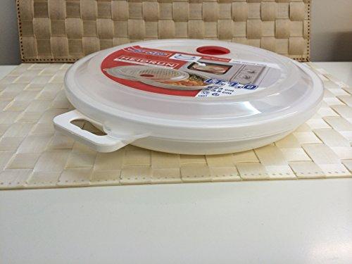Mikrowellen Teller mit Deckel 23 cm