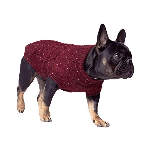 Canada Pooch Cp01304 Cambridge Cableknit Sweater Chocolat Taille 18