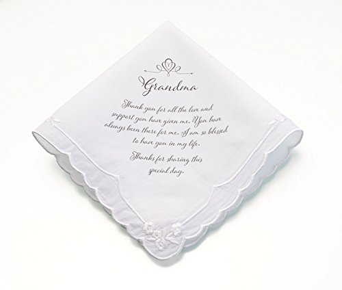 Lillian Rose Grandma Verse Wedding Gift Keepsake Hankie