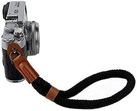 Camera Hand Wrist Strap, Soft Cotton Wrist Strap for Sony A6000 A6300 A6500 Fujifilm X100F X100T X100S X100 X-T2 X-T10 X-T20 X-E2 X-E3 and other Mirrorless Cameras (Black)