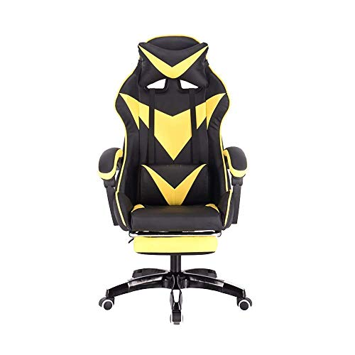 Oversteel Sedia Gaming, Con poggiapiedi design ergonomico elevando la sedia per computer rotanti con poggiatesta e massaggio cuscino lombare cuscino sedia da giardino