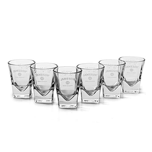 6 x Jameson Irish whiskey kleine shotglazen zeldzaamheid nieuw bar kwaliteit dranken