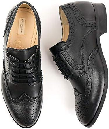 Will's Vegan Shoes Mens City Wingtip Brogue Oxfords Black