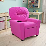 Flash Furniture FurnitureSeatingChairsRecliners, 39'D x 24.5'W x 28'H, Hot Pink Vinyl