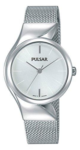 Pulsar dames analoog kwarts horloge met roestvrij stalen armband PH8229X1