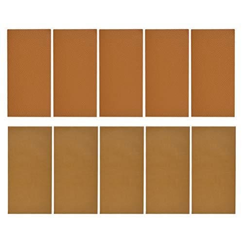 N\A Parches autoadhesivos de piel para reparación de sofás, asientos de coche, bolsos, chaquetas, 20 x 10 cm (con 2 estilos)