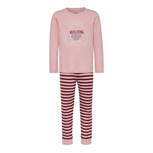 LEGO Mädchen CM-50444-PYJAMAS Zweiteiliger Schlafanzug, Rosa (Pink 442), (Herstellergröße: 122)