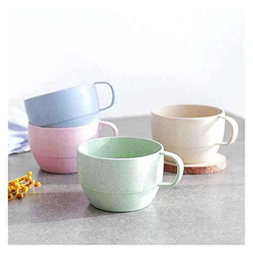 LIUBINGTB Taza de Agua Taza de la Leche de la Leche de la Paja del Trigo Taza del té del café del Desayuno Simple Taza de la Bebida de la Bebida ecológica Taza (Farbe : Blau)