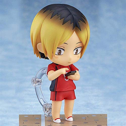 Kioiien Haikyuu !!Kozume Kenma Q versión 10 cm Figura de Anime con Accesorios Cara Intercambiable Modelo Hecho a Mano PVC Modelo Muñecas Colección Figurine Regalos de cumpleaños en Caja