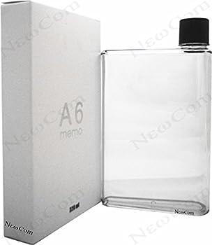 Newcom Portable Stylish Flat BPA-free Drink Bottle/Water Bottle  A6,Clear