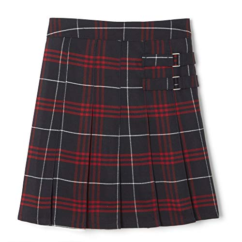 French Toast Girls' Plaid Two-Tab Scooter skirt, Navy Red Plaid, 16,Big Girls