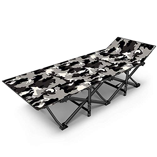 ZDYHEHAN Liegestuhl Lounge Chair,Klappstuhl Single Siesta Bed Begleitbett Adult Portable Chair,Grau
