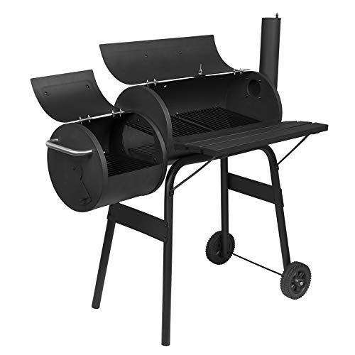 eSituro Barbecue Grill Outdoor Garden Patio Terrace Charcoal BBQ Grill Smoker Picnic Camping Party Freestanding Barbecue, Black