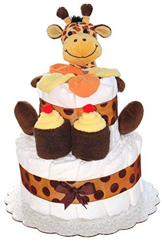2 Tier Mini Diaper Cake With...