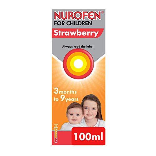 Nurofen for Children Medicine Strawberry Ibuprofen, 100 mg - 3 Months to 9 Years - 100 ml
