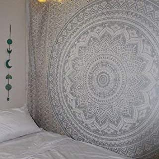 Popular Handicrafts New Launched Kp624 Silver Ombre Tapestry Mandala Hippie Wall Hanging..