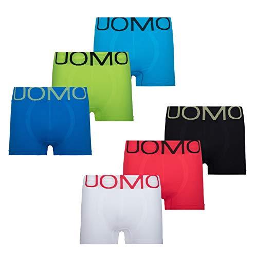 Mikrofaser Boxershorts Herren Unterhosen Männer 6er Pack, M(Label L), Mikrofaser 6er Pack Neon