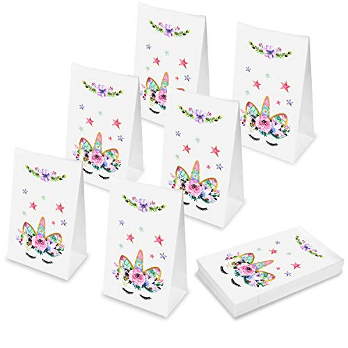 Unicorn Party Bags?Outego Unicorn Paper Bags Unicorn Party Favor Bags for Kids Birthday Party Goodie Bags (24 Pack)