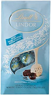 Lindt Lindor Truffles Stracciatella White Chocolate Shell with Cocoa Pieces with Smooth Filling 5.1 Oz