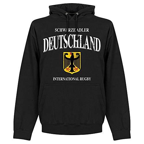 Retake Deutschland Rugby Kapuzenpullover - schwarz - L