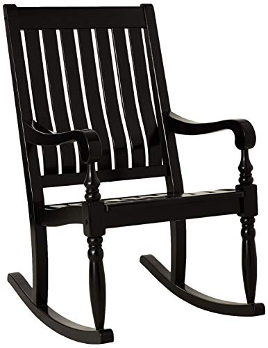 Cambridge-Casual AMZ-130826BK Thames Rocking Chair, Black