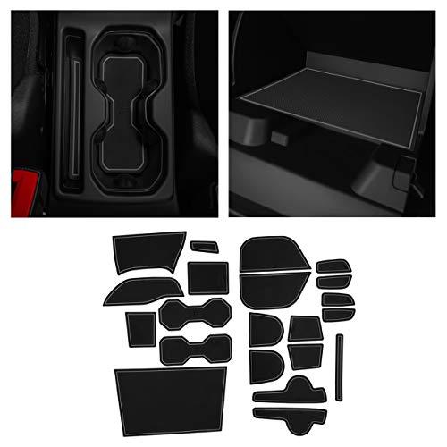 CupHolderHero fits Jeep Renegade Accessories 2015-2021 Premium Custom Interior Non-Slip Anti Dust Cup Holder Inserts, Center Console Liner Mats, Door Pocket Liners 23-pc Set (Gray Trim)