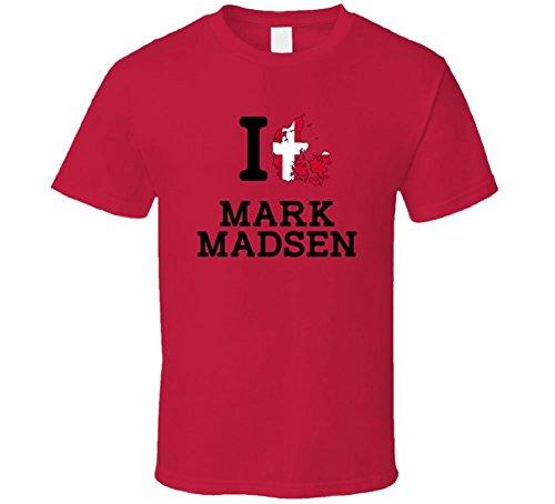 I Love Mark Madsen Denmark Wrestling Olympics T Shirt Small