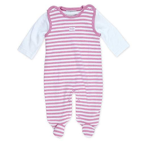FEETJE L'ensemble grenouillère rayée bébé ensemble bébé, taille 62, rose