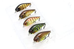 LUCKY CRAFT Squarebill Crank Bait for Bass Fishing/LC 1.5 Special Kit (Pack of 5 Colors) (KinKuro Michael, FF Striped Gill, Shine Tone Gill, Magma Peacock, Cow Boy Gill)