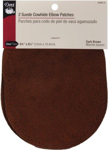 Dritz Ellenbogen-Patches aus Wildleder 4-3/4 x 6-1/2-Inch Dunkelbraun