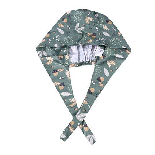 TENDYCOCO Erwachsene chirurgische Baumwollkappe Libelle verstellbare Krawatte Doktor Nurse Cap Surgery Hat