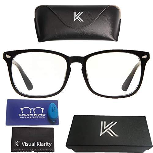 Blaulicht-Brille, blockiert Blaulicht, UV-Strahlen und dient als Blendschutz – verhindert Migräne, Belastung der Augen – Vintage-Brille, unisex (Männer/Frauen) – visuelle Klarheit