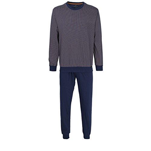 Götzburg Herren Nachtwäsche Zweiteiliger Schlafanzug, Pyjama lang, aus Baumwolle 48