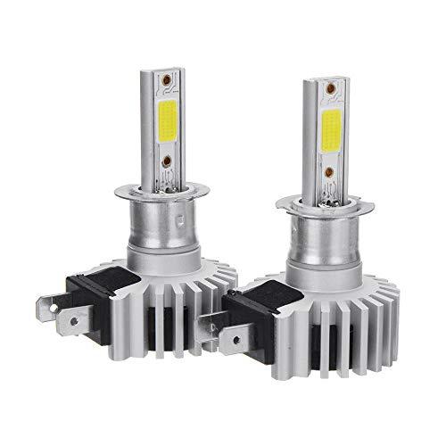ZLSP D9 60W 8000LM LED Faros del Coche Lámpara H1 H3 H4 H7 H11 9005 9006 6000K Reemplace el halógeno HID de Xenon (Color : H3)