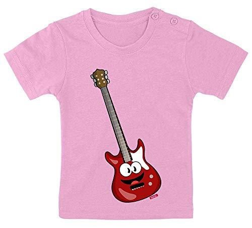 HARIZ Camiseta para bebé con diseño de guitarra eléctrica sonriente