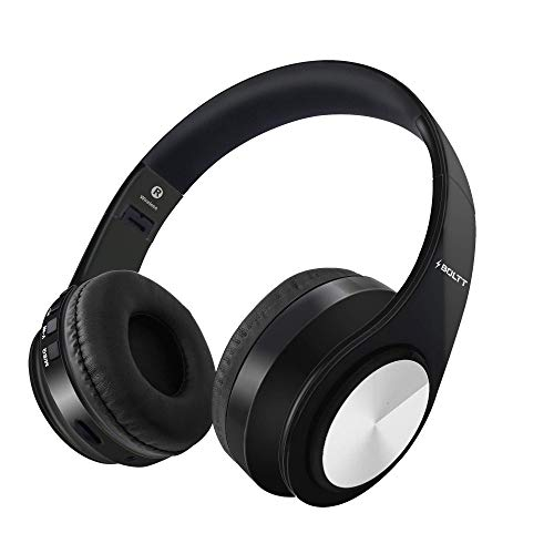 Fire-Boltt Blast 1000 Hi-Fi Stereo Over-Ear Wireless Bluetooth Headphones with Foldable Earmuffs, 20-Hours Playtime & Built-in Mic (Black)