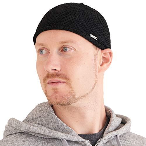 Sombrero Hombre Gorro Kufi Hat - Sombrero Calavera 100% Algodón Crochet Chemio Muslim Beanie Hat