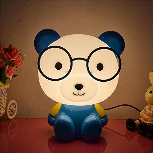 Nachtlicht für Kinder LED Nachtlicht, tragbare USB wiederaufladbare Silikon Nachttischlampe Mehrfarbiges Licht Hello Kitty Nachttischdekoration Lampe-konventionell_Kartonbär blau T.