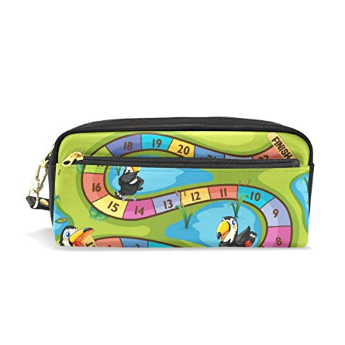 Étui à crayons de grande capacité pour les oiseaux au jeu de toucan avec un sac de poche de stylo en papeterie avec fermeture à glissière