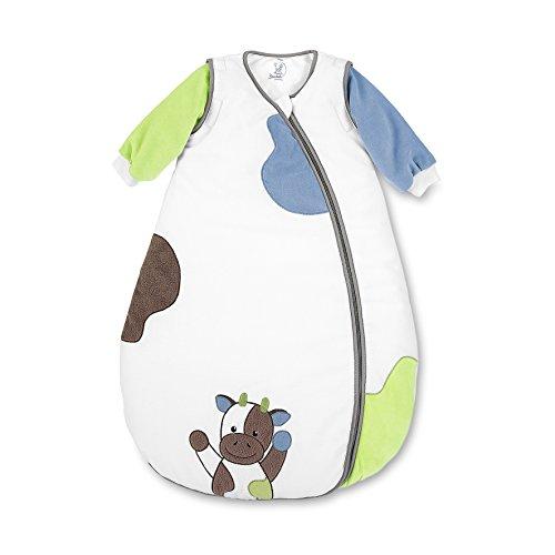 Sterntaler Schlafsack für Kleinkinder, Abnehmbare Ärmel, Wärmeregulierung, Reißverschluss, Größe: 110, Wieslinge, Weiß/Grün/Blau