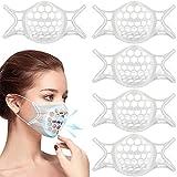 TOOVREN マスクフレーム 3d インナーマスク マスクガード シリコン マスクブラケット マスクサポート インナーフレーム 立体快適3D メイクキープフレーム 息苦しさ解消 息苦しくない 口紅の保護 5PCS