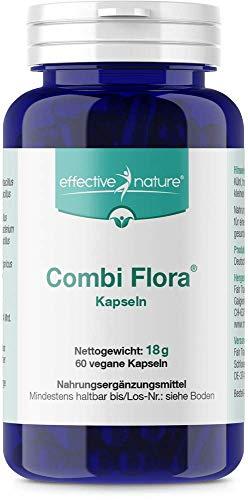 effective nature - Combi Flora Kapseln - Zur täglichen Nahrungsergänzung - 60 vegane Kapseln