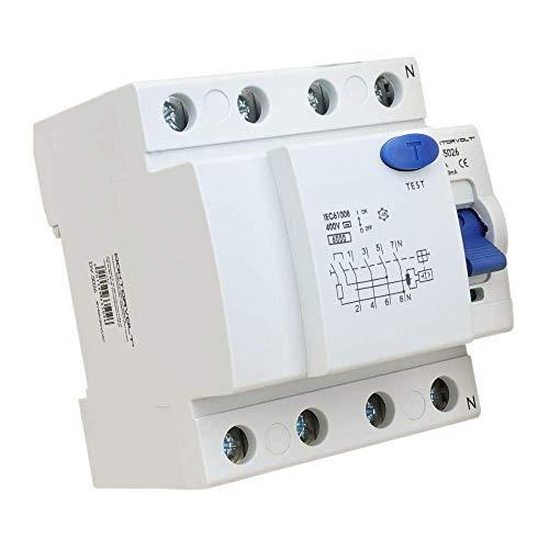 Interruptor diferencial 4P 40A 30mA Tipo AC Interruptor FI RCCB RCD Interruptor Doktorvolt 5026