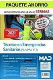 Paquete Ahorro Técnico en Emergencias Sanitarias SERMAS. Ahorra 48 € (incluye Temario volúmenes 1, 2 y 3; Test y acceso gratis al Curso Oro)