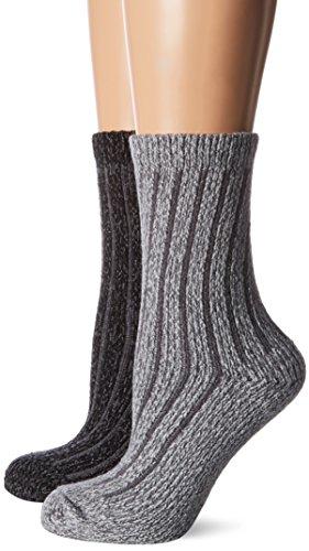 s.Oliver Socks Damen S20484 Socken, Grau (Anthracite 0008), 39/42 (2er Pack)