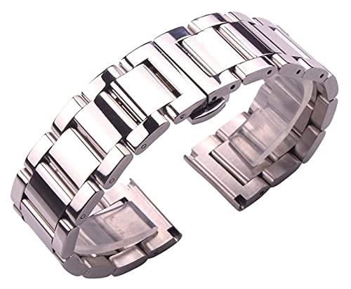 Sólido 316L de acero inoxidable reloj de reloj de plata 18 mm 20 mm 21 mm 22 mm 23 mm 24 mm de reloj de reloj de metal correa relojes de pulsera Reloj de reloj Correa de reloj Correa reloj de oro WSYG