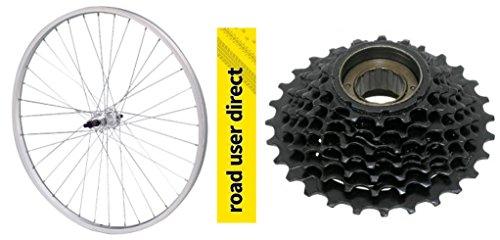 26' Rear Alloy Mountain Bike Wheel With 6 Speed Freewheel