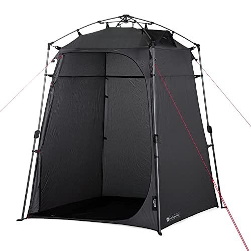 Qeedo Quick Shower Cabin Camping Duschzelt und Umkleidezelt (Blickdicht) 2m...